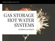 Know more about Gas Storage Hot Water Systems
