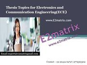 Thesis Topics for ECE-
