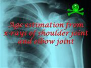 X-ray of shoulder joint and elbow joint