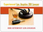 Experienced Los Angeles DUI Lawyer