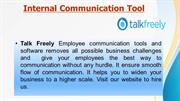 Talk Freely- Internal communication Tools for better communication too
