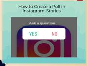 How to Create a Poll in Instagram  Stories | Instagram Help Center