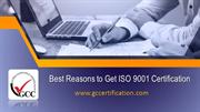 Why to Get ISO 9001 Certification?