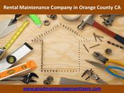 Rental Maintenance Company in Orange County CA