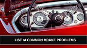 List of Common Brake Problems