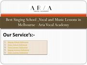 Best Singing School ,Vocal and Music Lessons in Melbourne - Aria Vocal