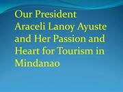 Our President Araceli Lanoy Ayuste and Her Passion and Heart for Touri