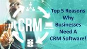 Top 5 Reasons Why Businesses Need a CRM Software!