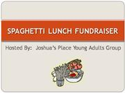 spaghetti lunch fundraiser