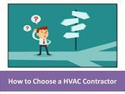 How to Choose a HVAC Contractor
