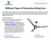 Different Types of Decorative Ceiling Fans