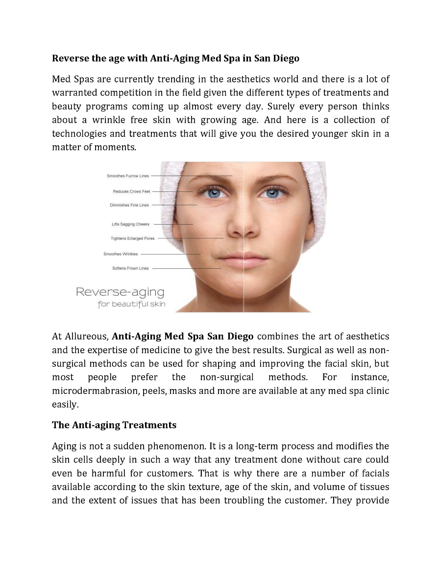 Reverse The Age With Anti Aging Med Spa In San Diego Authorstream