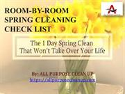 Room-by-Room Spring Cleaning Check List