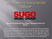 Album Compilation, Content Identification Service - Sugo Music Group