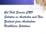 CRO Solution in Australia Australian Healthcare Solutions