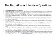 The Best Alteryx Interview Questions