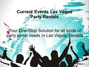 Party and Event Rentals in Las Vegas