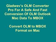 Convert OLM Mac to MBOX Format