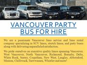 Vancouver Party Bus For Hire
