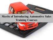 Merits of Introducing Automotive Sales Training Courses