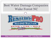 Best Water Damage Companies Wake Forest NC