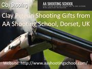 Clay pigeon Shooting gifts by AA Shooting School, Dorset, UK