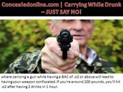 Concealedonline.com | Carrying While Drunk – JUST SAY NO!