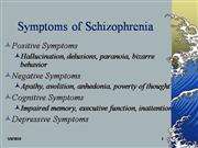 Nursing Week 2: Schizophrenia