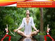 Motivational Tips On Yoga For Better Breathing and Healthy Body - Mall