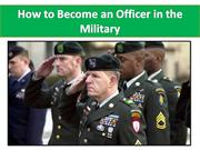 How to Become an Officer in the Military