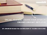 Online teaching certification subjects