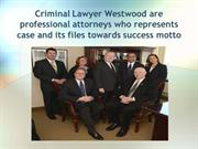 Criminal Lawyer Westwood are professional attorneys