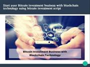 Bitcoin investment script | HYIP script| investment business portal