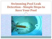 Swimming Pool Leak Detection - Simple Steps to Save Your Pool