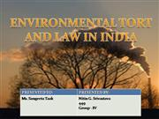 environmental tort and law in india