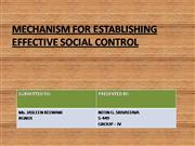 MECHANISM FOR ESTABLISHING EFFECTIVE SOC