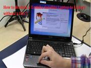 Toshiba Satellite Laptop To Factory Without A Disc