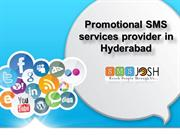 Promotional SMS  services in Hyderabad, Promotional Bulk SMS services