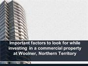 Important factors to look for while investing in a commercial property