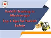 4 Tips for Forklift Safety -Forklift Training Brampton