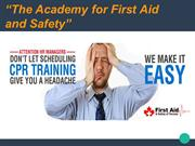 Contact Us Today For The Emergency First Aid Course