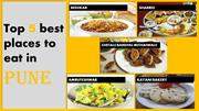 Top 5 best places to eat in Pune | Quick Cab Pune
