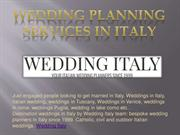 Wedding Planning Services in Italy