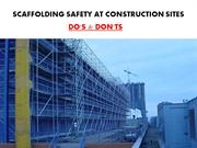 5 Do's and Don'ts for Scaffolding Work Safety
