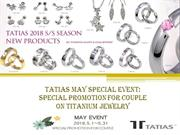 TATIAS May special event Special promotion for couple on Titanium Jewe