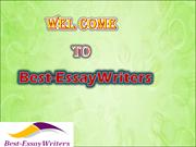 Best-EssayWriters - Proffesional  essay writing services