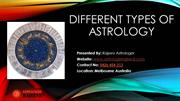 Different Types of Astrology