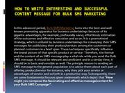 How to write interesting and successful content message for Bulk SMS M