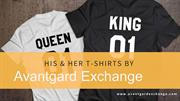 His and Her Couple T-shirts by Avantgard Exchange
