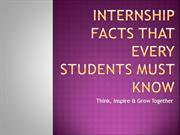 Internship Facts that Every Students Must Know